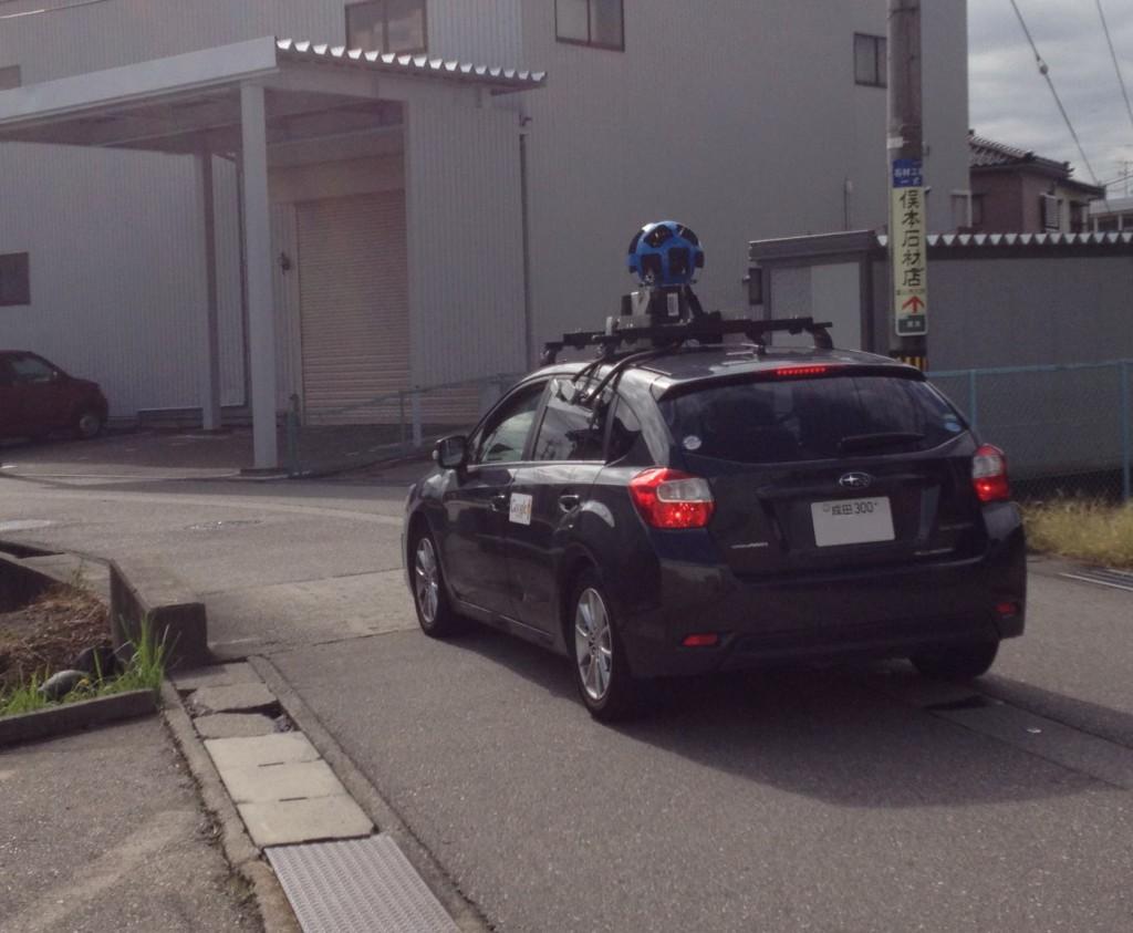グーグルカーの去りゆくところも撮影してみました(*^^*)